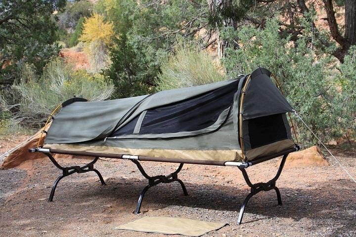camping swag man