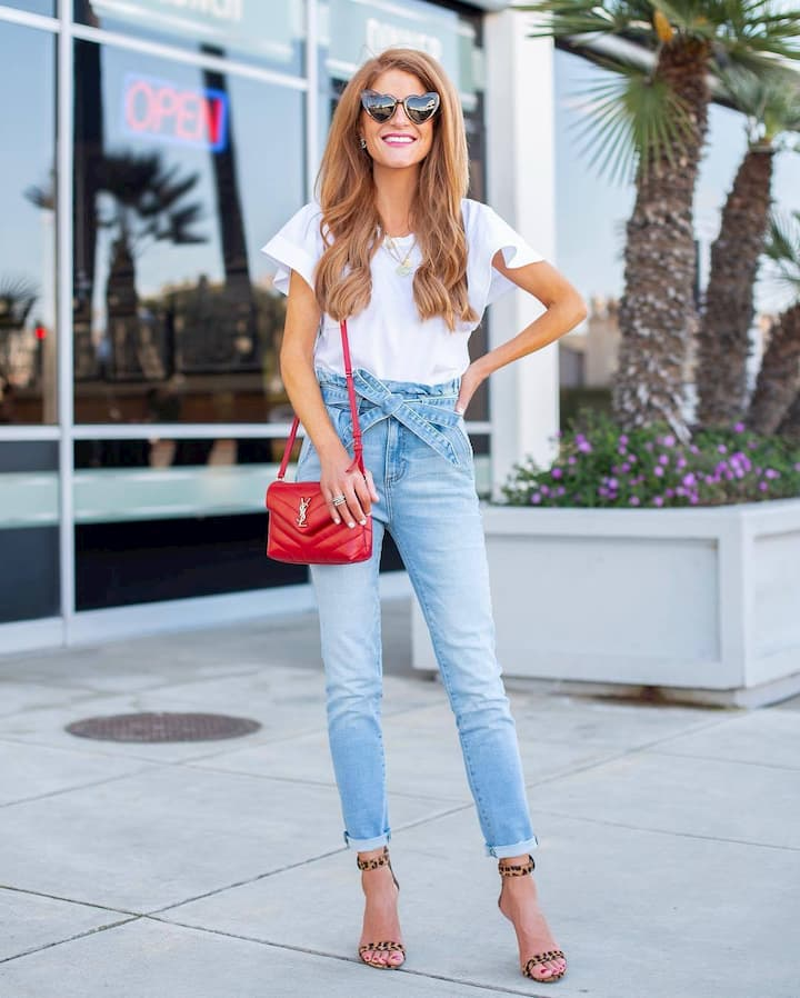 jeans-jeans-sandals-bag-red-white+t+shirt