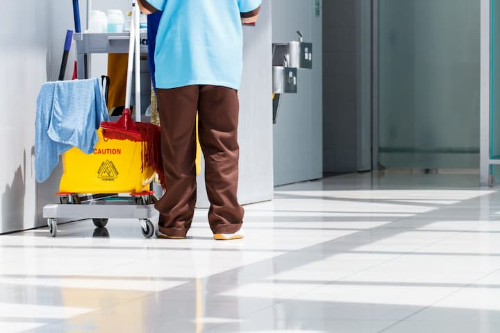 cleaning aged care flooring