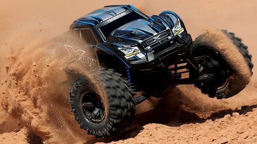 Close up picture of RC car