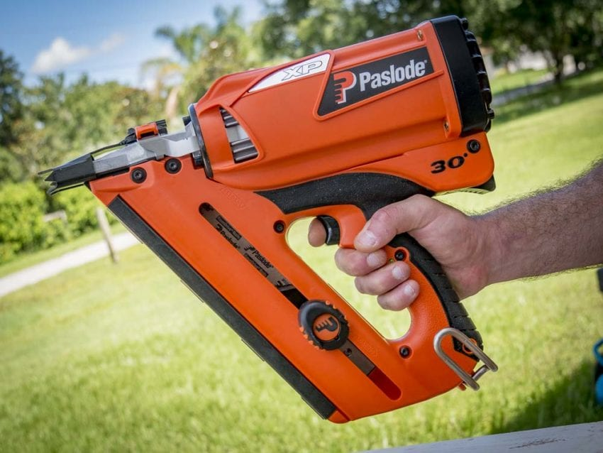 Close up picture of Paslode farming nailer