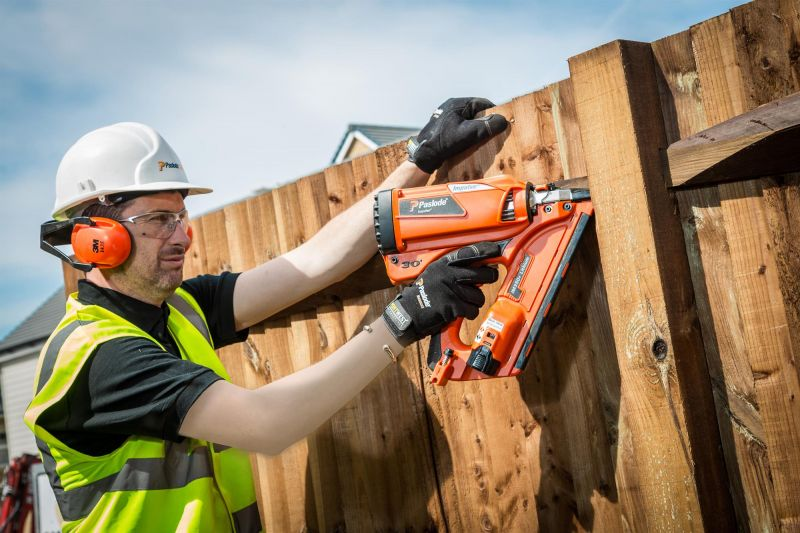 working with farming nailer
