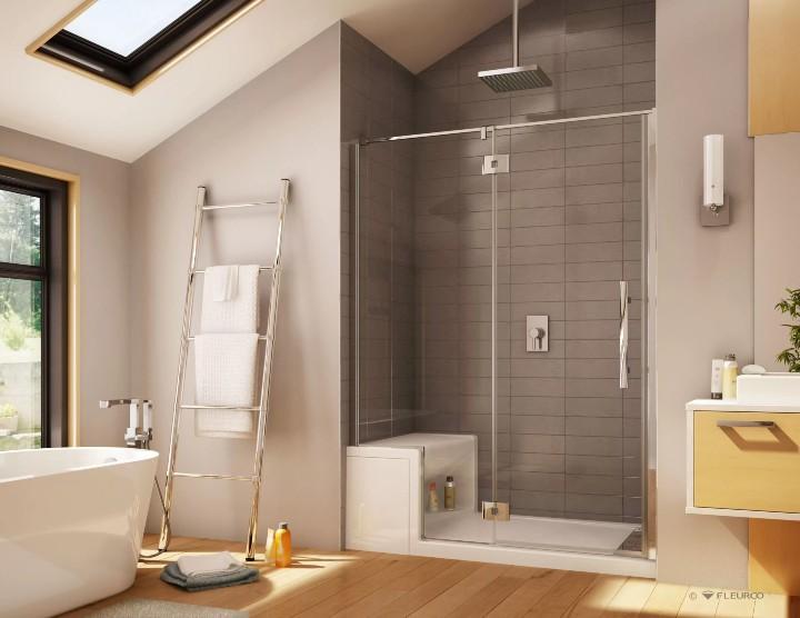 modern shower base acrylic