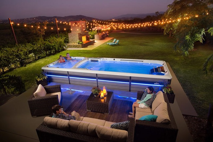 Make the Most Out of Your Outdoor Area with swim spa outdoor