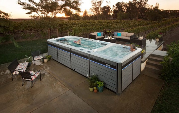 quality furniture outdoor with swim spa
