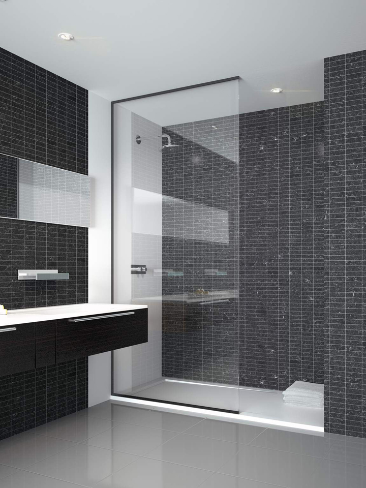 frameless glass shower units