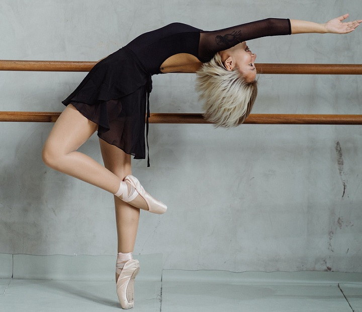 picture of a girl in a ballerina outfit and ballet shoes