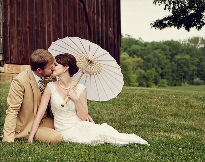 Japanese-style wedding umbrella