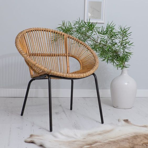 Rattan and Wicker kitchen stools