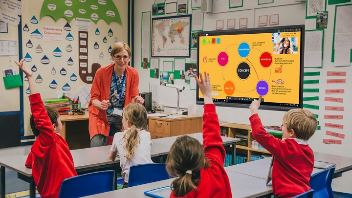 interactive study in classroom