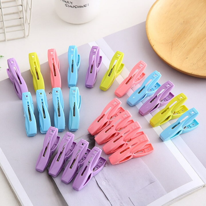 colorful pegs