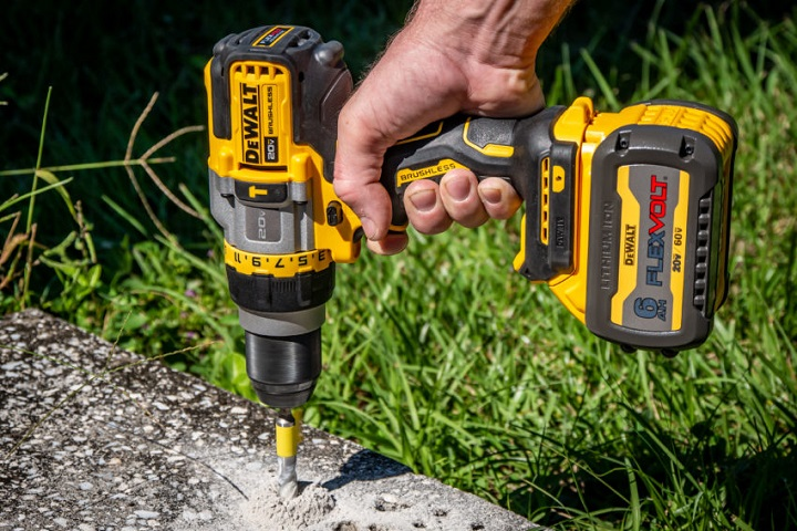 working with dewalt brushless drill